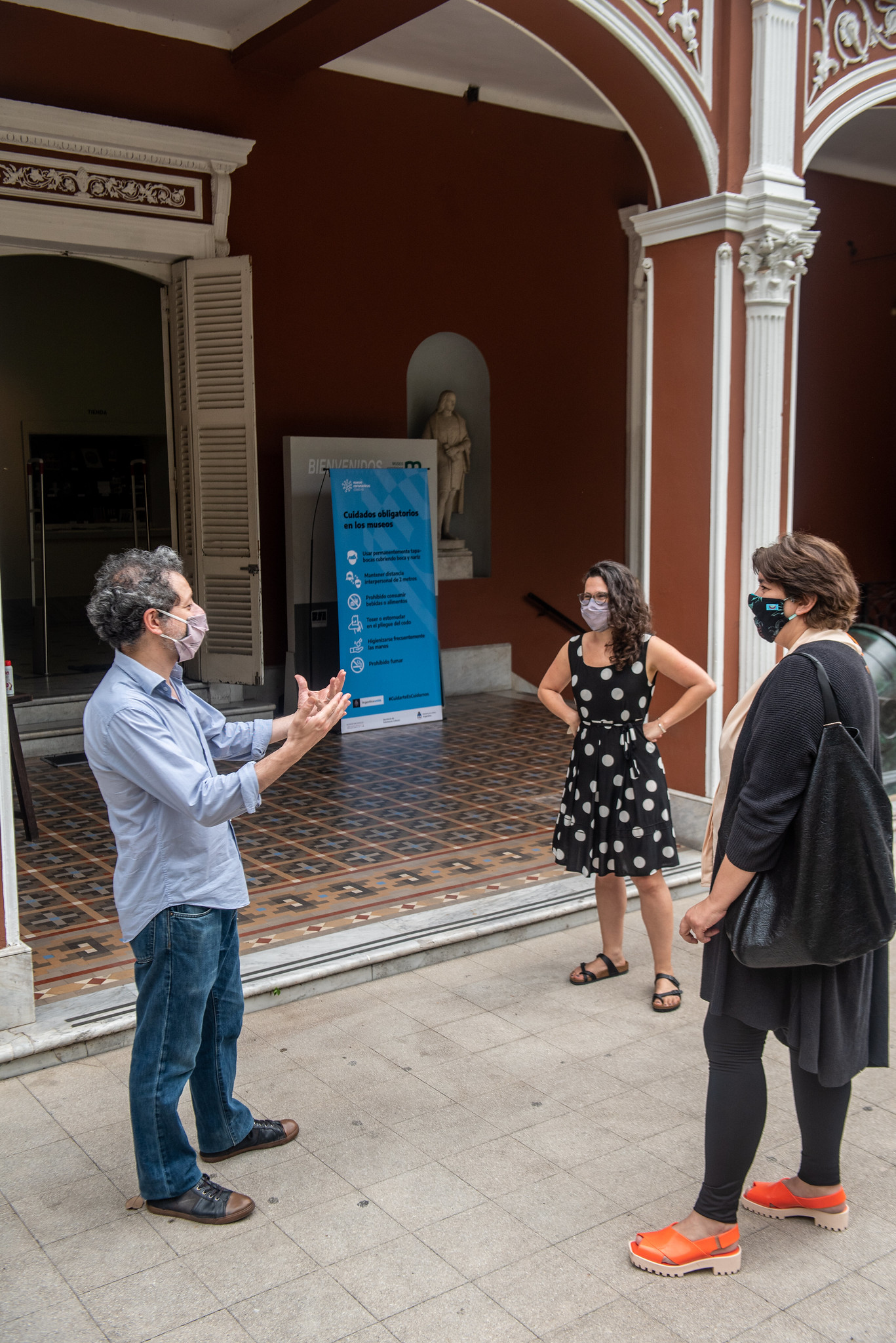 Dentro del museo, el uso del barbijo es obligatorio en todo momento (Ministerio de Cultura)