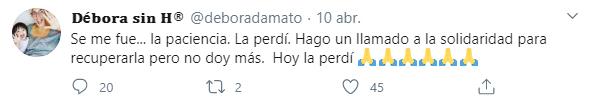 """""""Perdí la paciencia"""", confesó la periodista en las redes (Foto: Twitter)"""