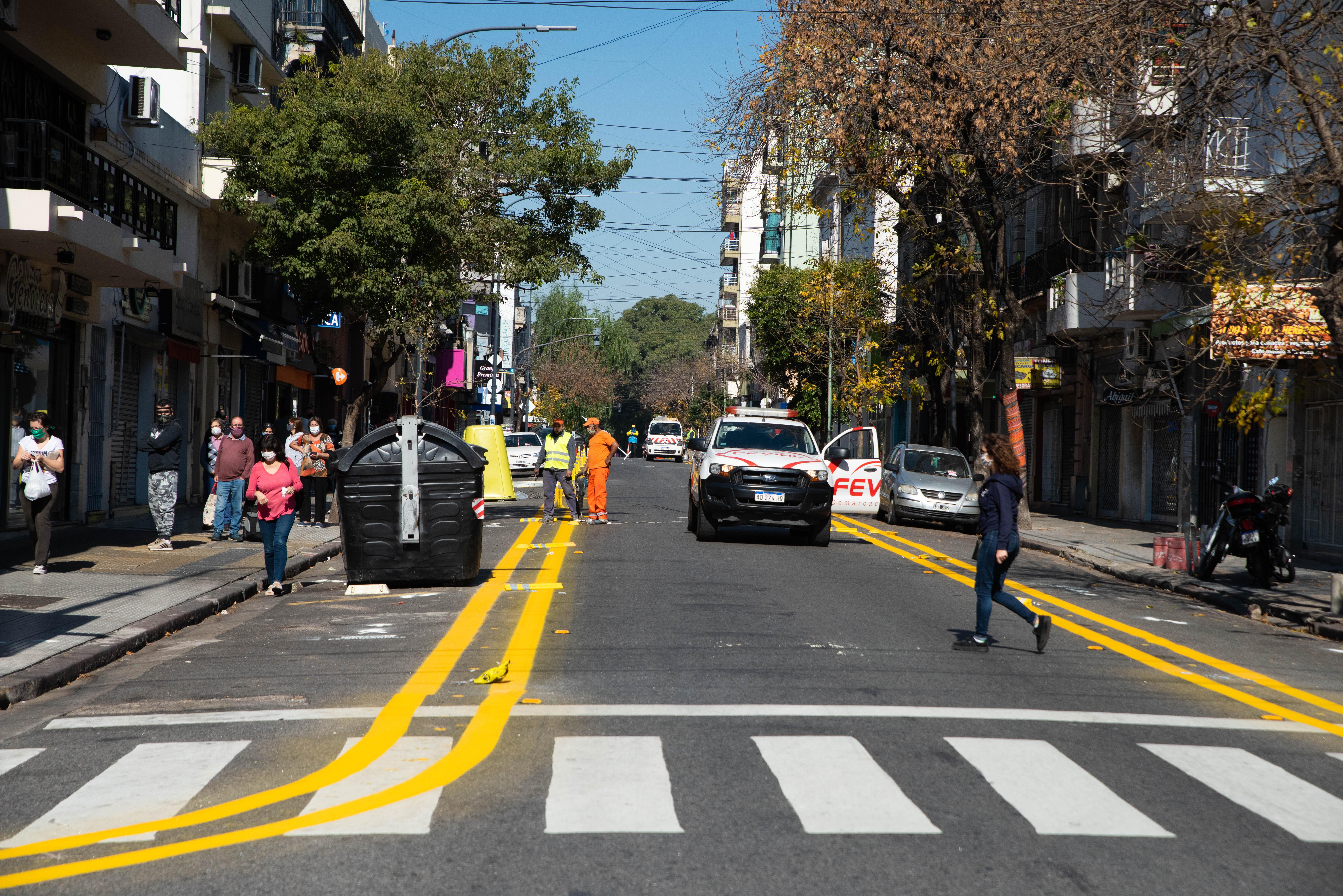 El Gobierno porteño anunció que más de 100 espacios de la ciudad se volverán peatonales a través de demarcaciones