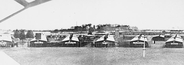 En las barracas de Sachsenhausen vivieron más de 10.000 cautivos. (Museo del Holocausto de Washington DC, cortesía de Gedenkstatte und Museum Sachsenhausen)