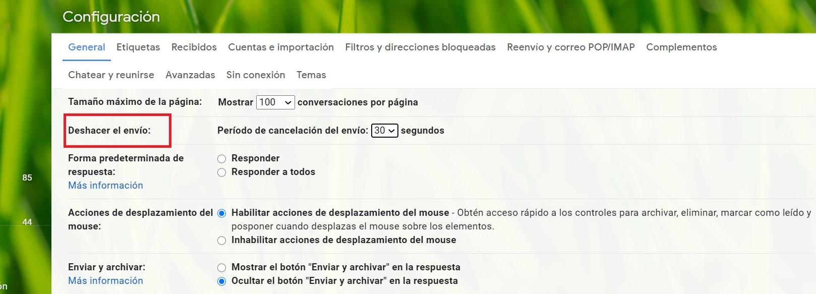 Cómo deshacer envíos en Gmail