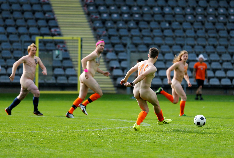 Una acción de juego de los jugadores holandeses