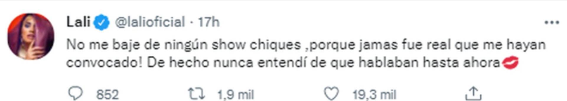 El tuit de Lali