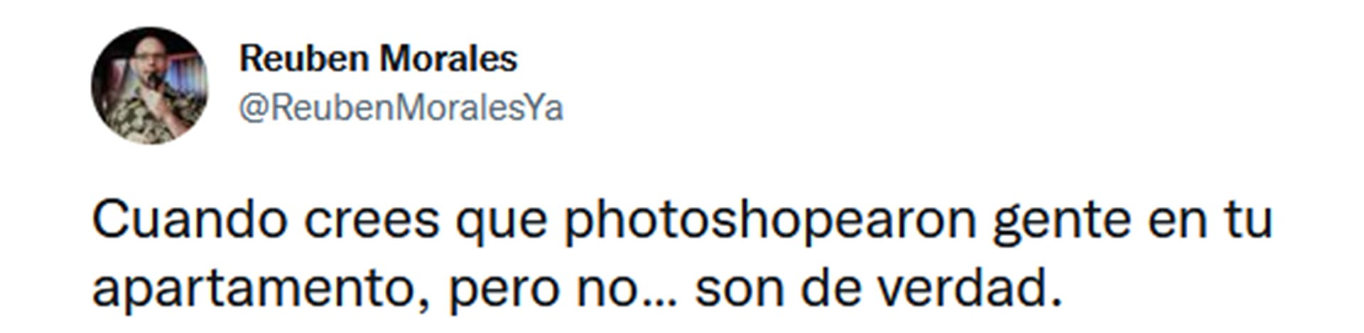 La denuncia de Reuben Morales en Twitter