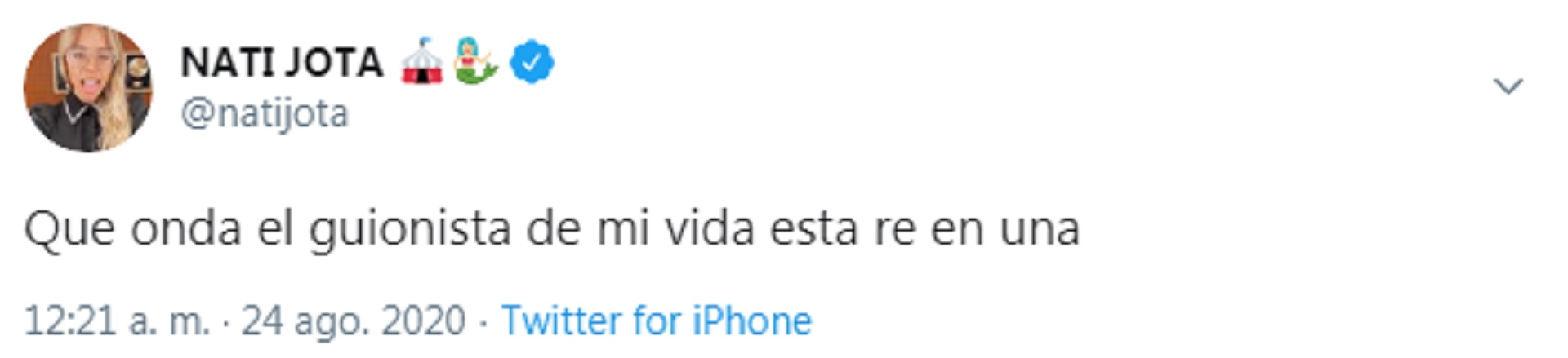 Los tuits de Nati Jota al enterarse que su ex está de novio con Ivana Nadal