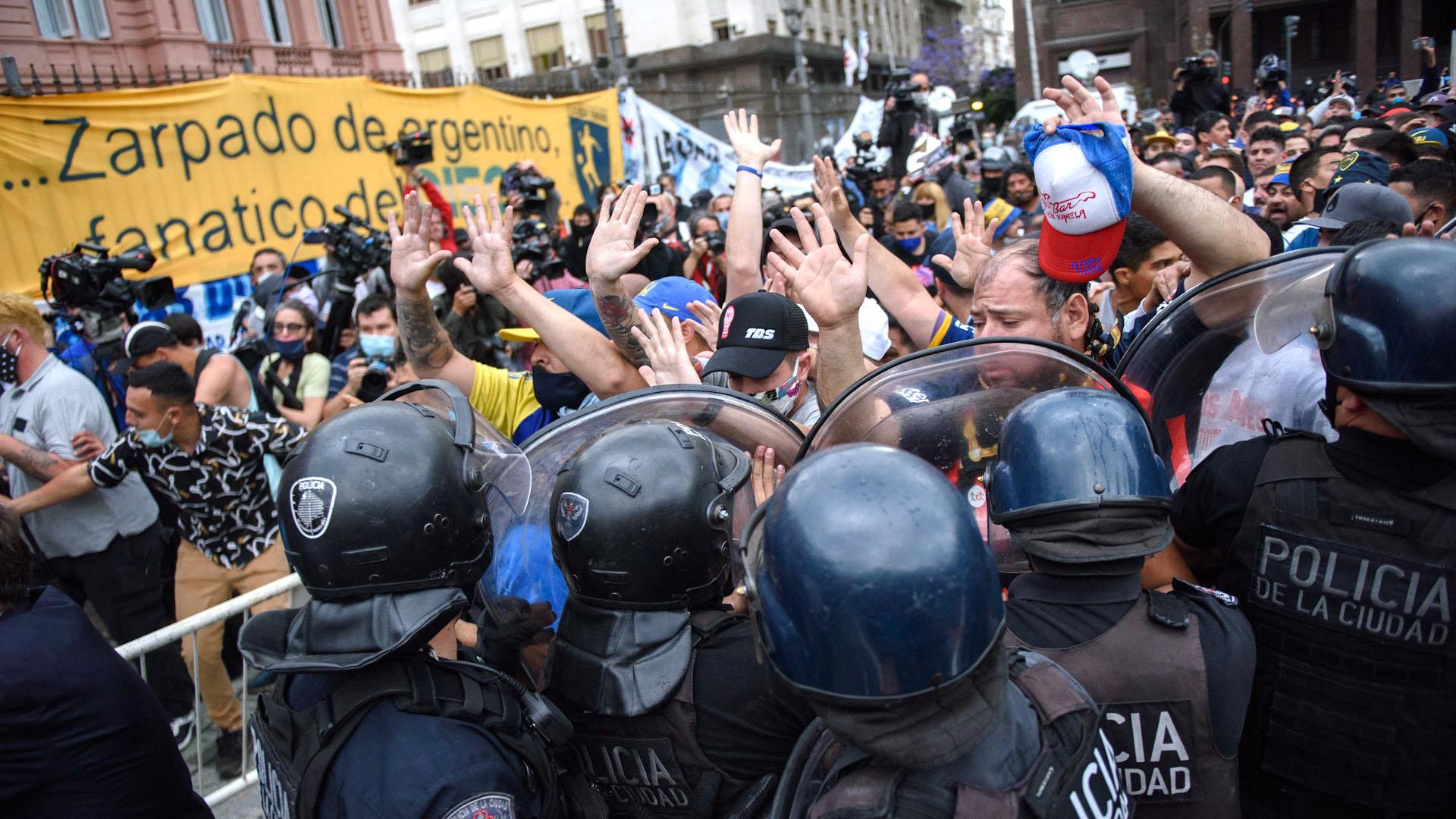 Cuando se abrieron las puertas de Casa Rosada se registraron algunos incidentes