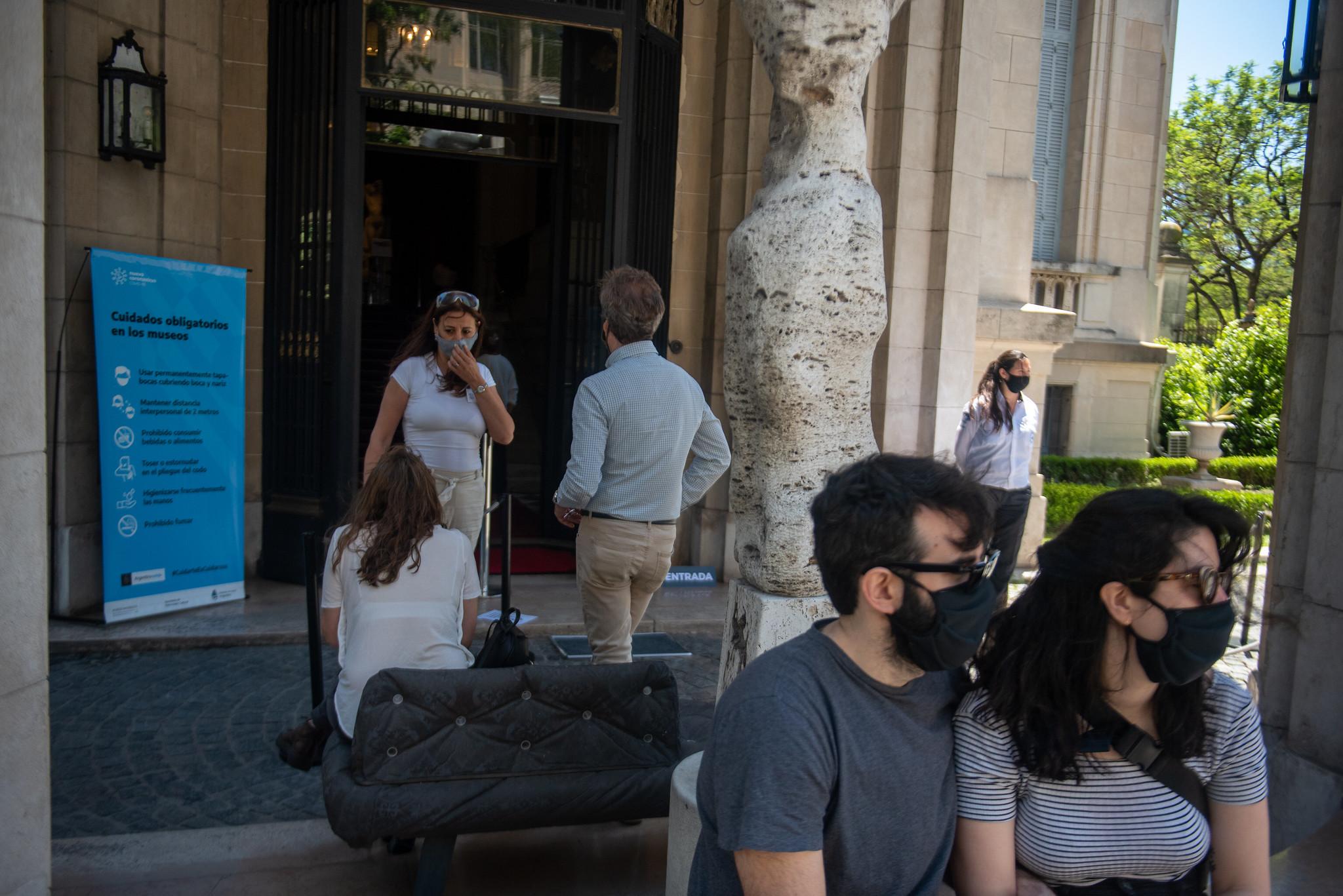 Las familias pudieron disfrutar de un día soleado en el parque del museo (Ministerio de Cultura)