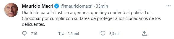 El mensaje de Macri tras el veredicto