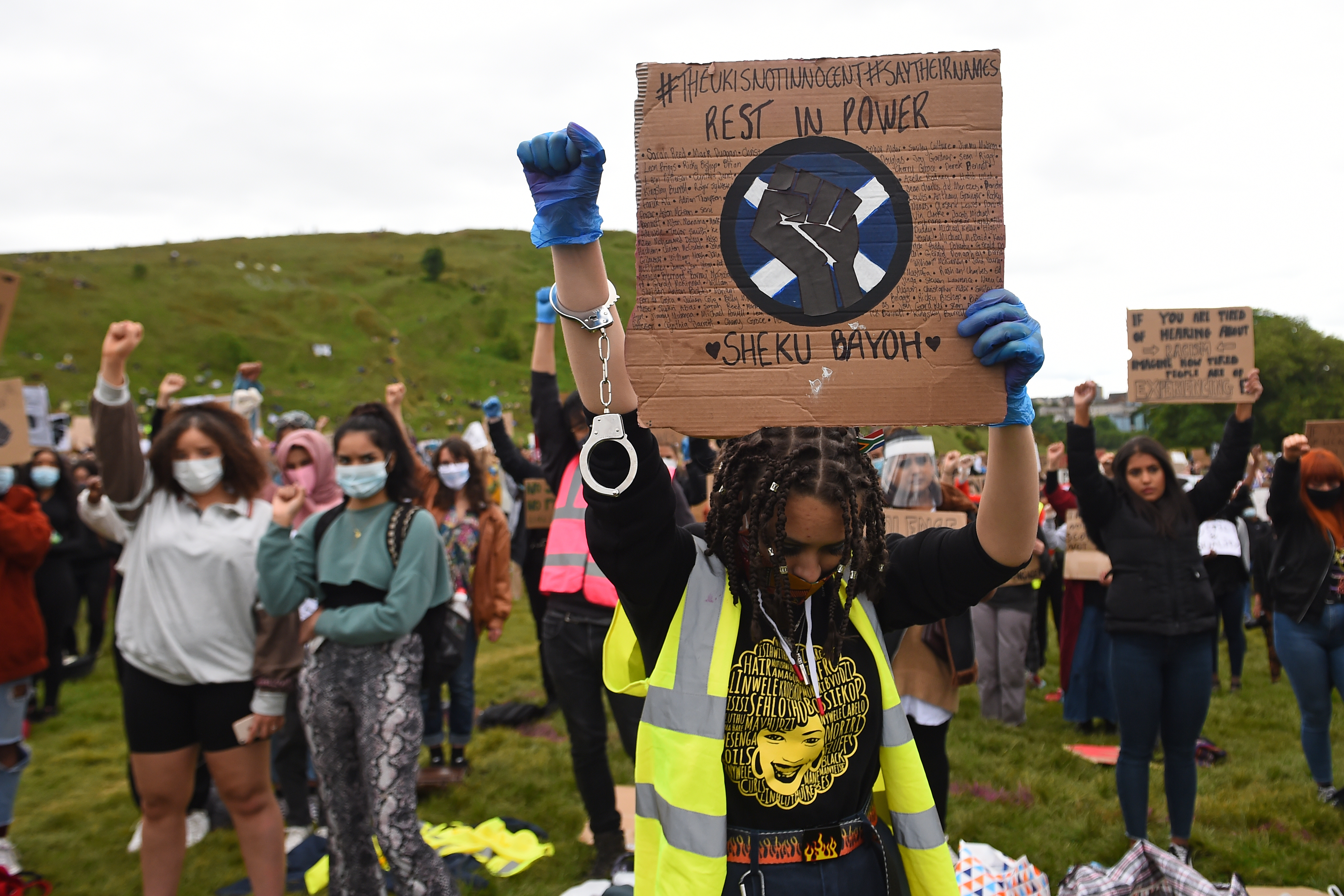 Manifestación en Edimburgo, la capital escocesa