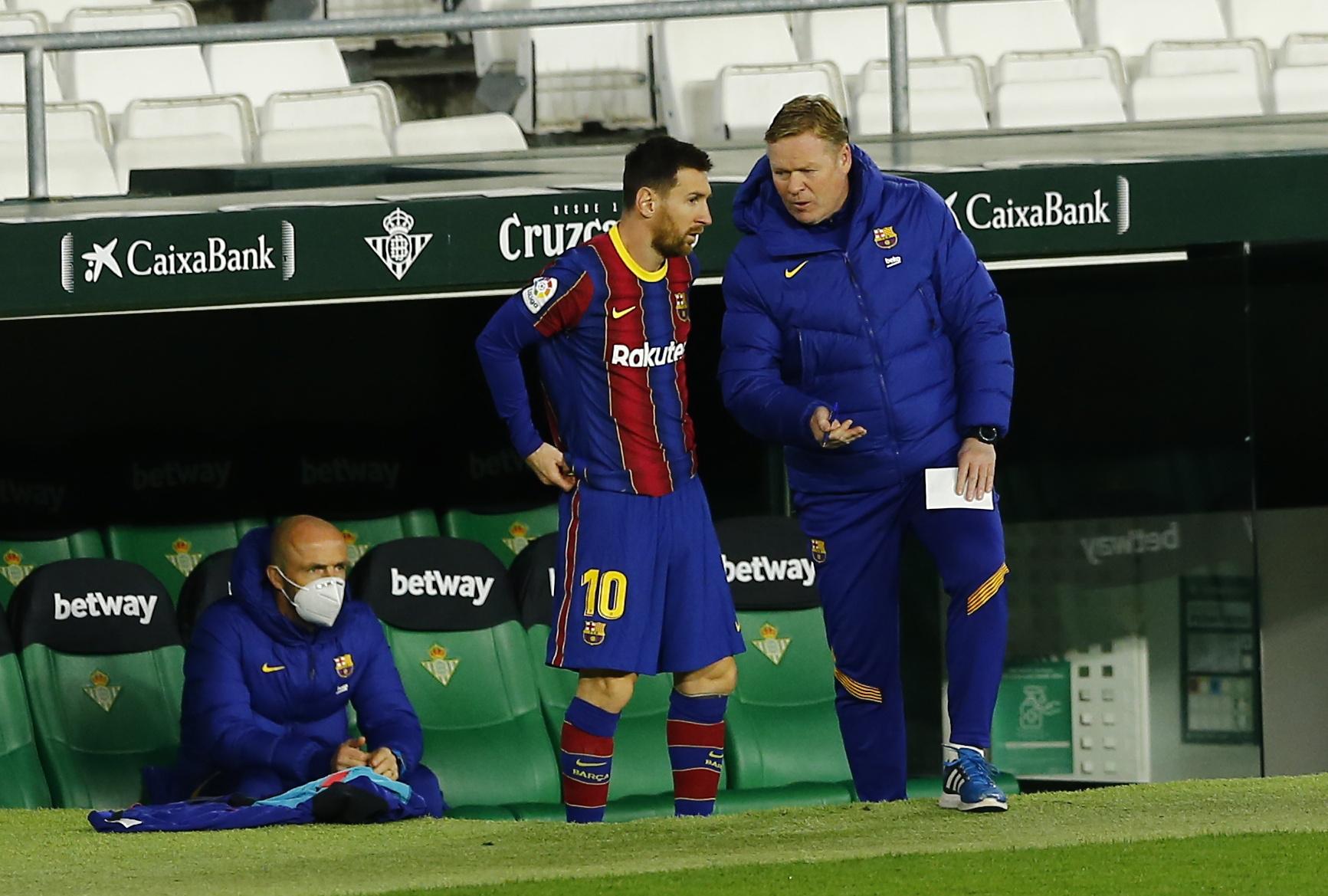 Explosiva conferencia de prensa de Koeman por las versiones en torno al  futuro de Lionel Messi - Infobae