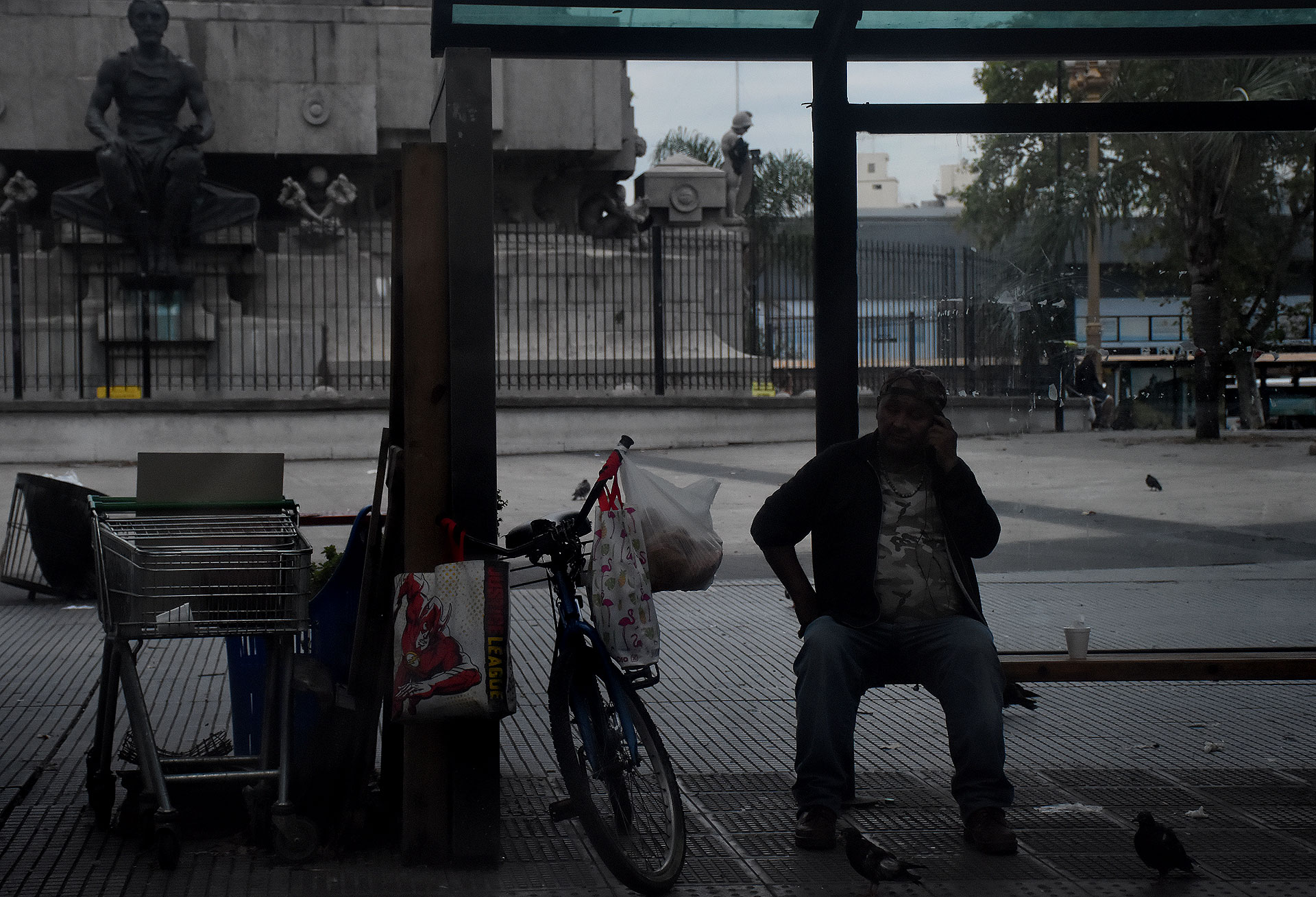 Debido a la disminución de la circulación, ya casi no se ven vendedores ambulantes