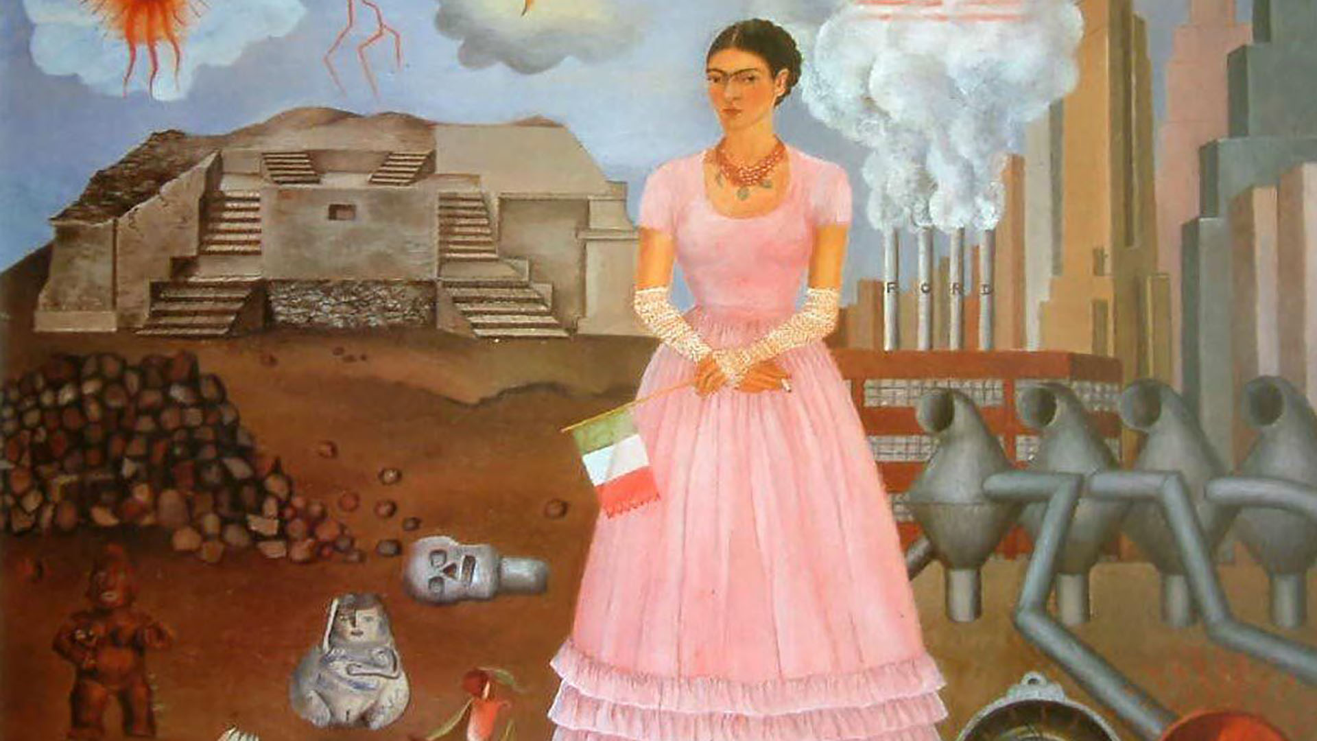 La Belleza Del Día Autorretrato En La Frontera Entre México Y Estados Unidos De Frida Kahlo Infobae