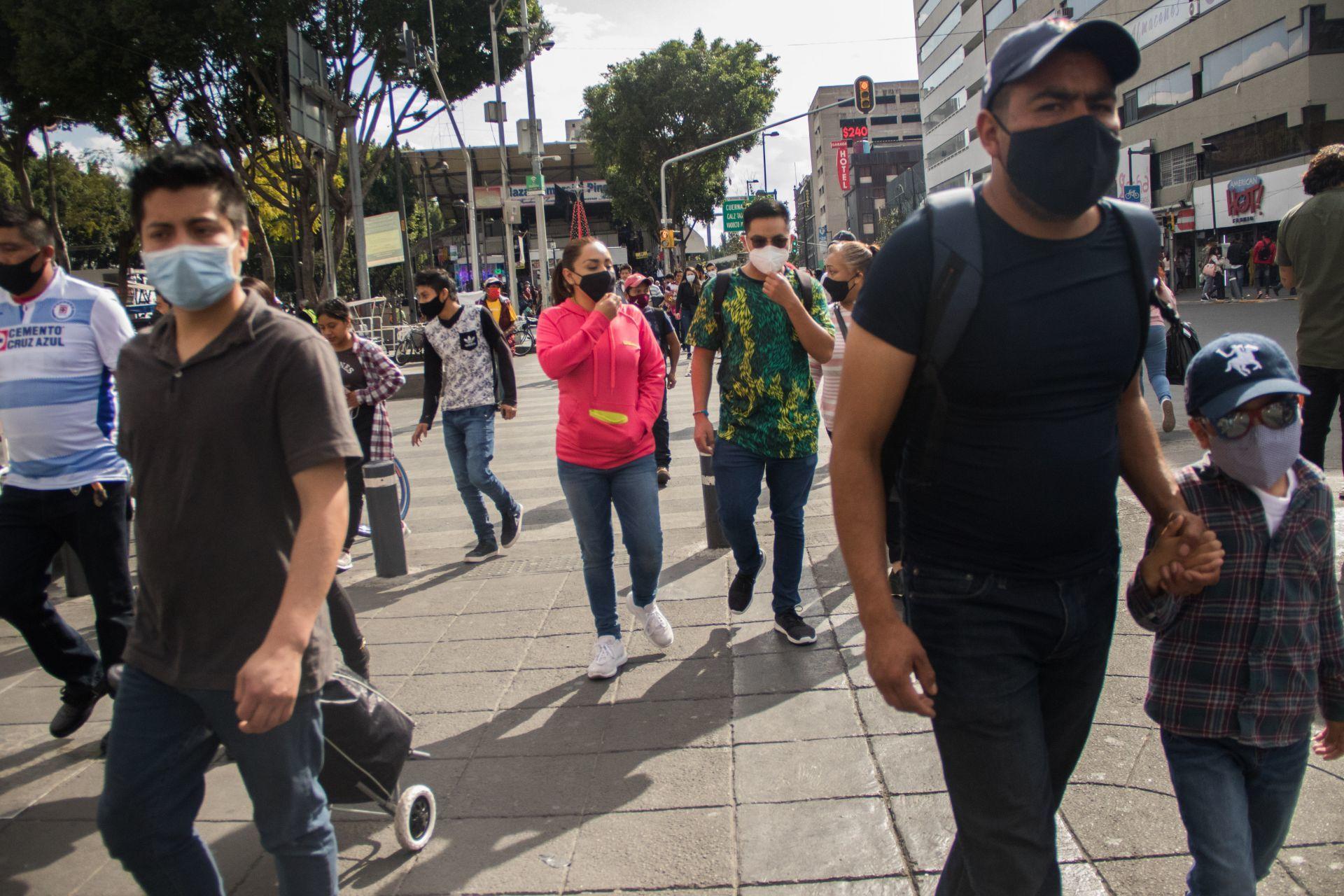 Centro Histórico. Ciudad de México, 6 de diciembre de 2020.