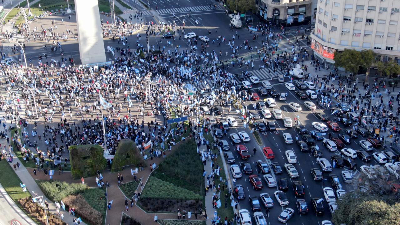 Las marchas contra el Gobierno y los banderazos se repitieron a lo largo de estos seis meses de cuarentena.