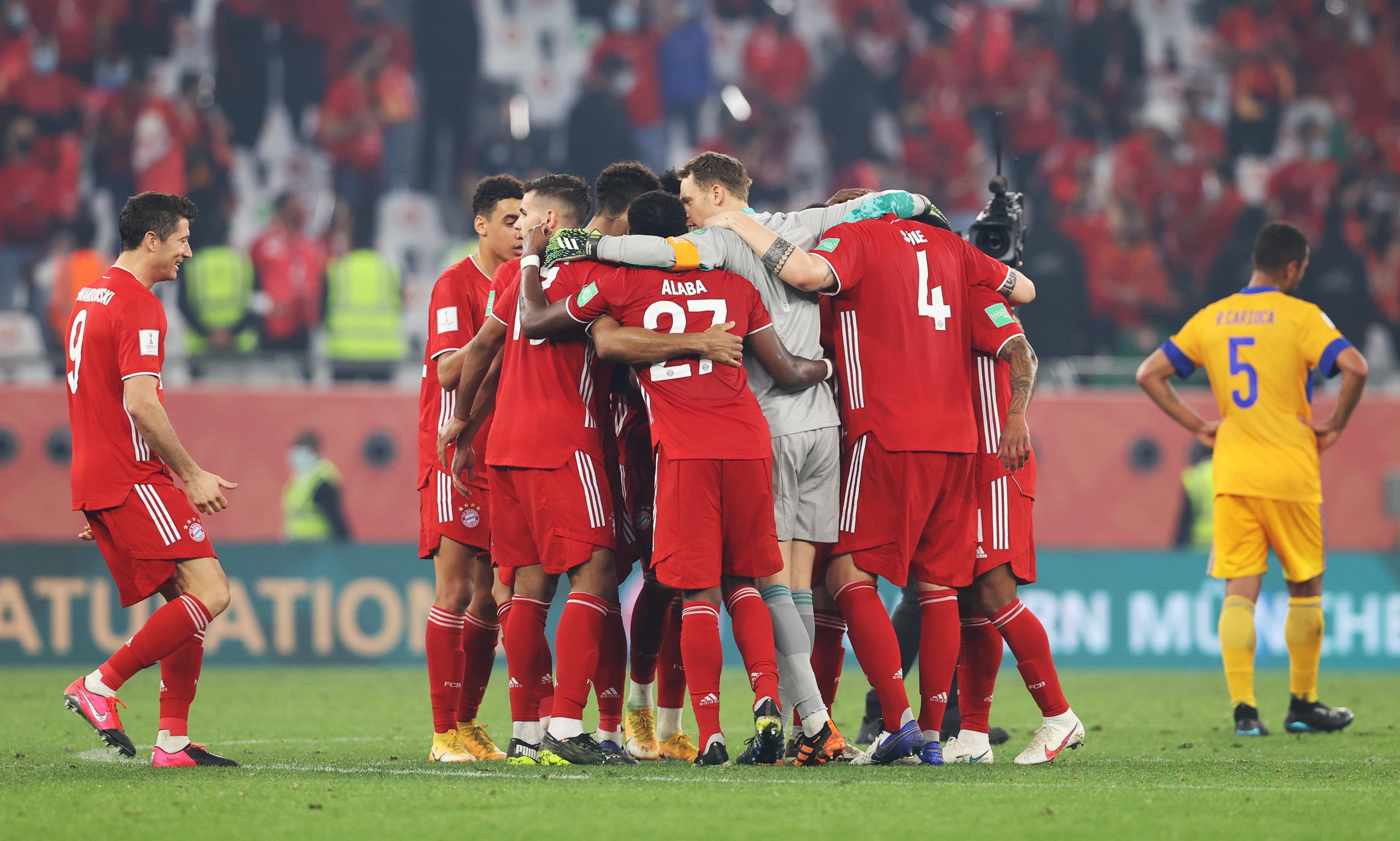 Bayern Múnich celebra después del juego.