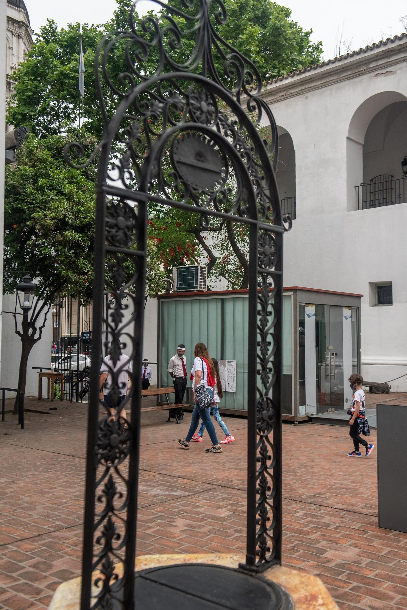 Familias enteras pudieron disfrutar de todas las instalaciones del museo, tanto su patio como sus salas internas (Ministerio de Cultura)