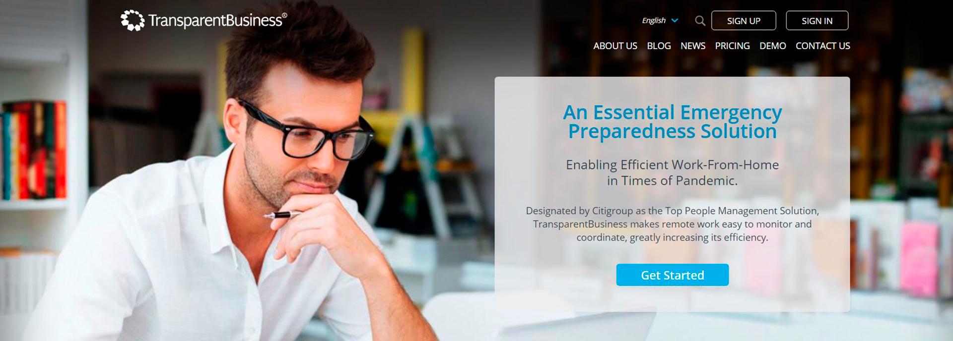 TransparentBusiness es una plataforma de software en la nube (SaaS) para la gestión de equipos distribuidos y trabajo remoto