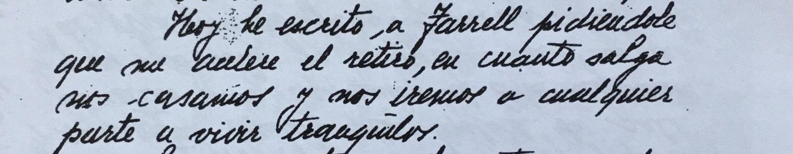 Uno de los párrafos de la carta que Perón le escribió a Eva, desde la isla Martín García.