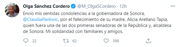 (Foto: Captura de pantalla / Twitter @M_OlgaSCordero)