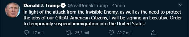 Trump anticipó este decreto el lunes por la noche