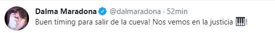 El mensaje de Dalma Maradona tras la reaparición de Matías Morla