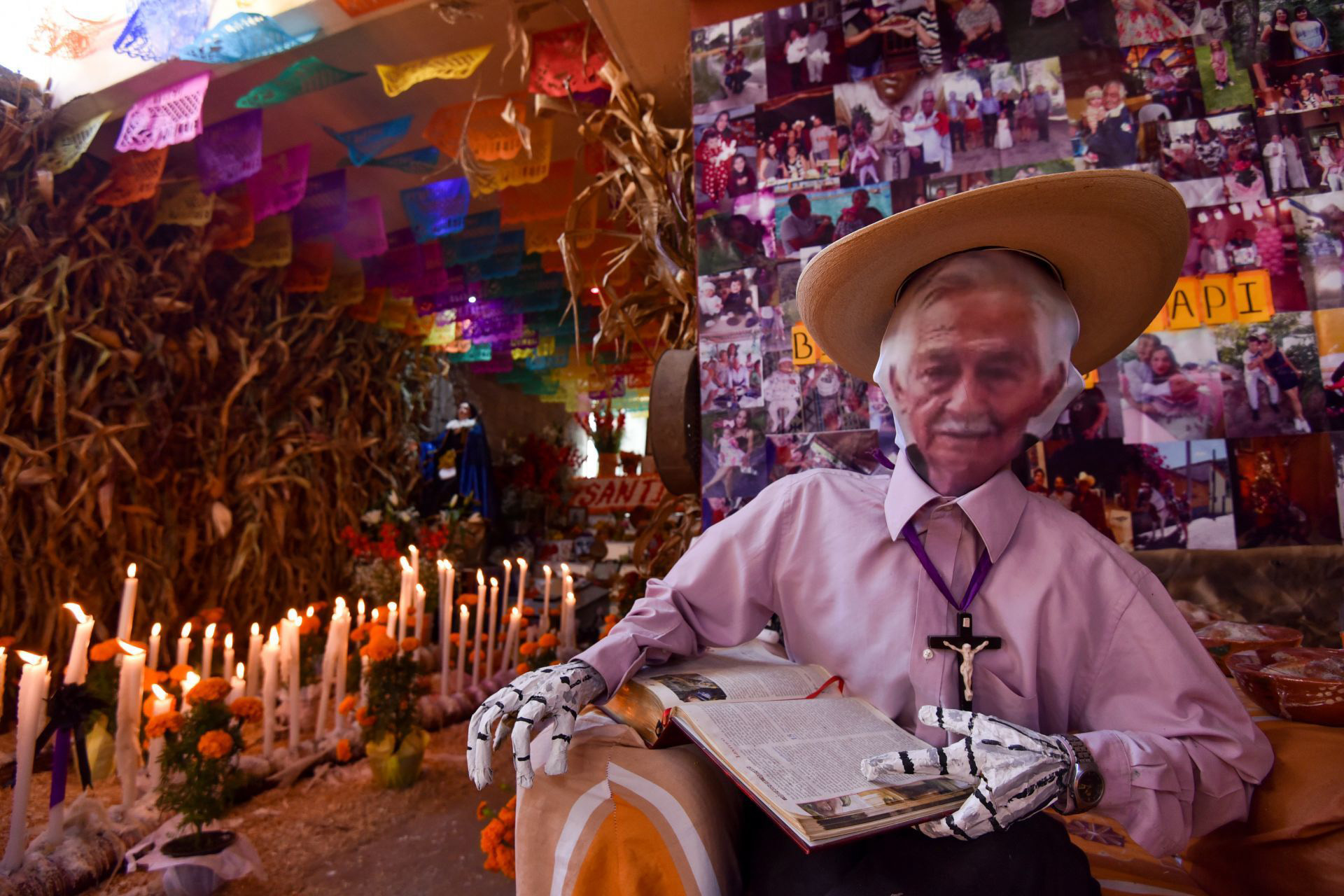 Instalan ofrendas para Muertos Nuevos en Malinalco.
