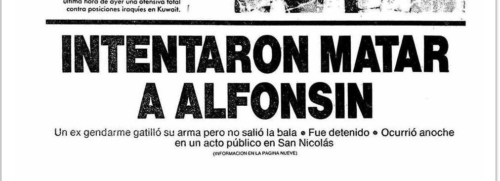 La noticia del intento de asesinato del ex presidente en San Nicolás
