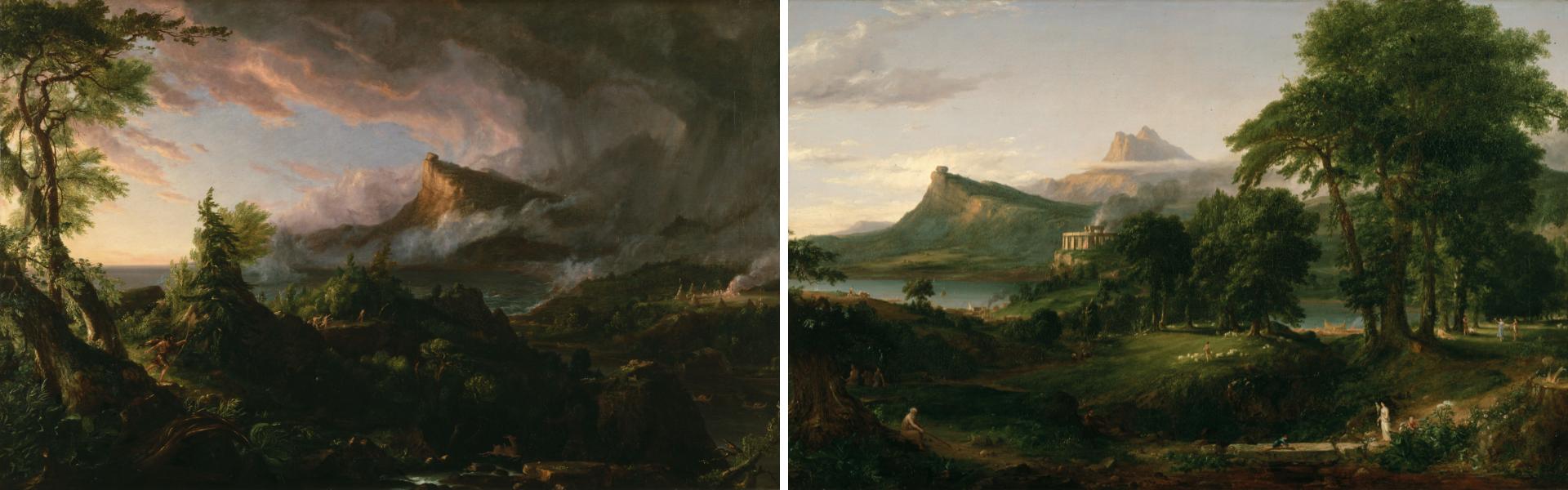 """""""El estado primitivo"""" y """"El estado arcaico"""" de Thomas Cole"""