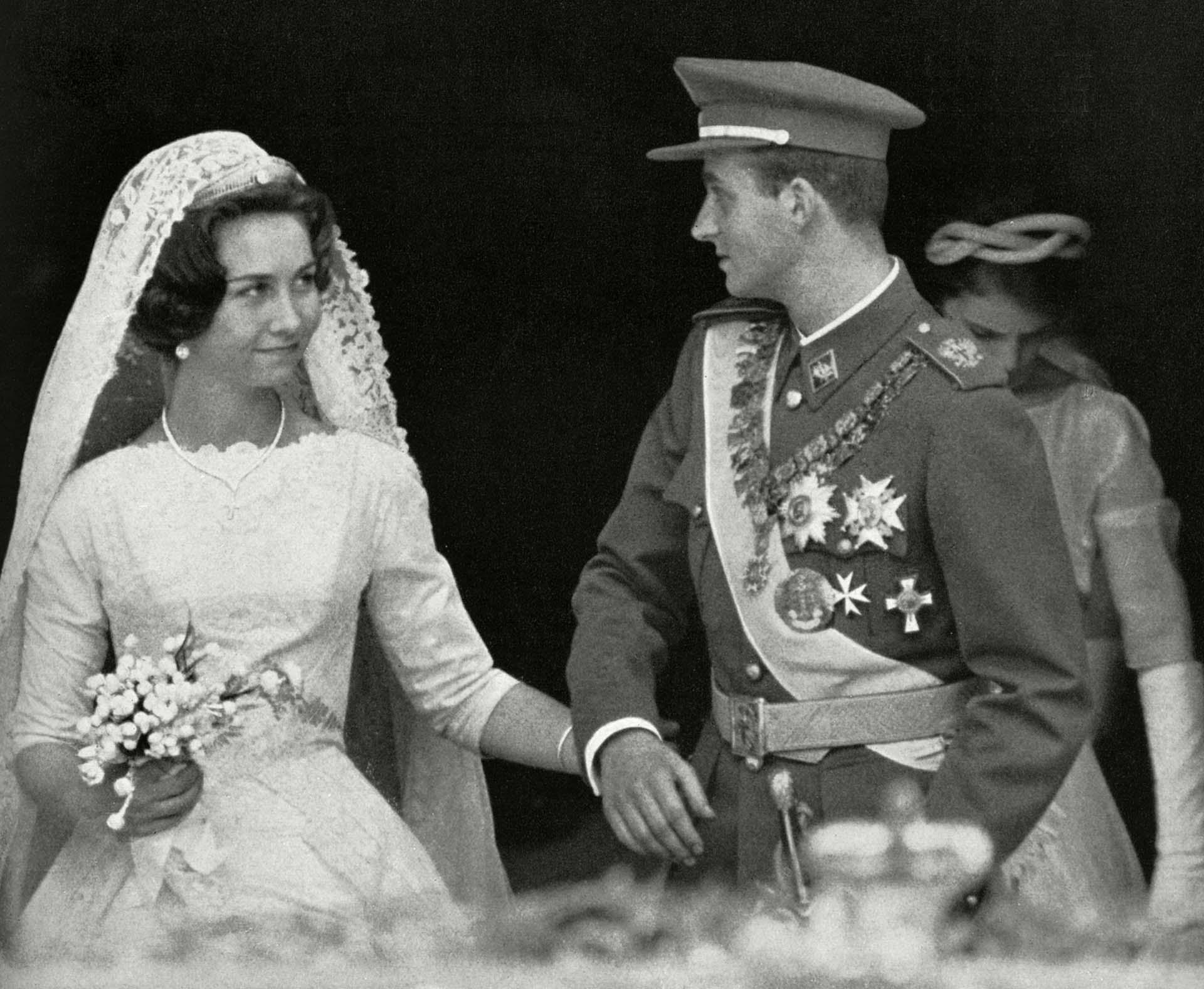 El 14 de mayo de 1962 la princesa Sofía de Grecoa y el por entonces infante Juan Carlos de España contrajeron matrimonio en Atenas (Shutterstock)