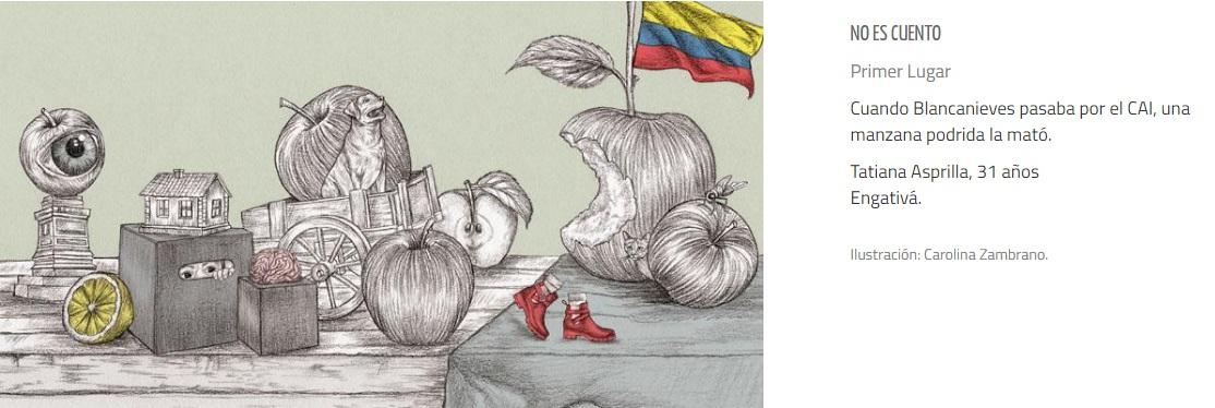 Ilustración del relato 'No es cuento' de Tatiana Asprilla. Foto: Carolina Zambrano/Archivo personal.