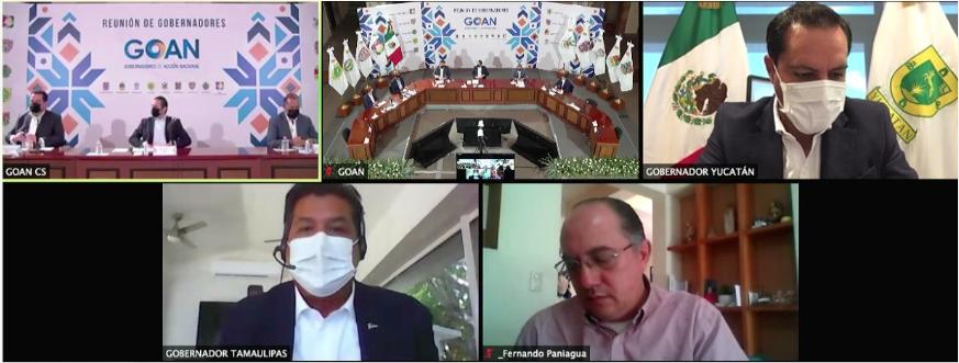 Conferencia virtual del GOAN en la que ratificaron el nombramiento de francisco Domínguez como su nuevo líder (Periscope)