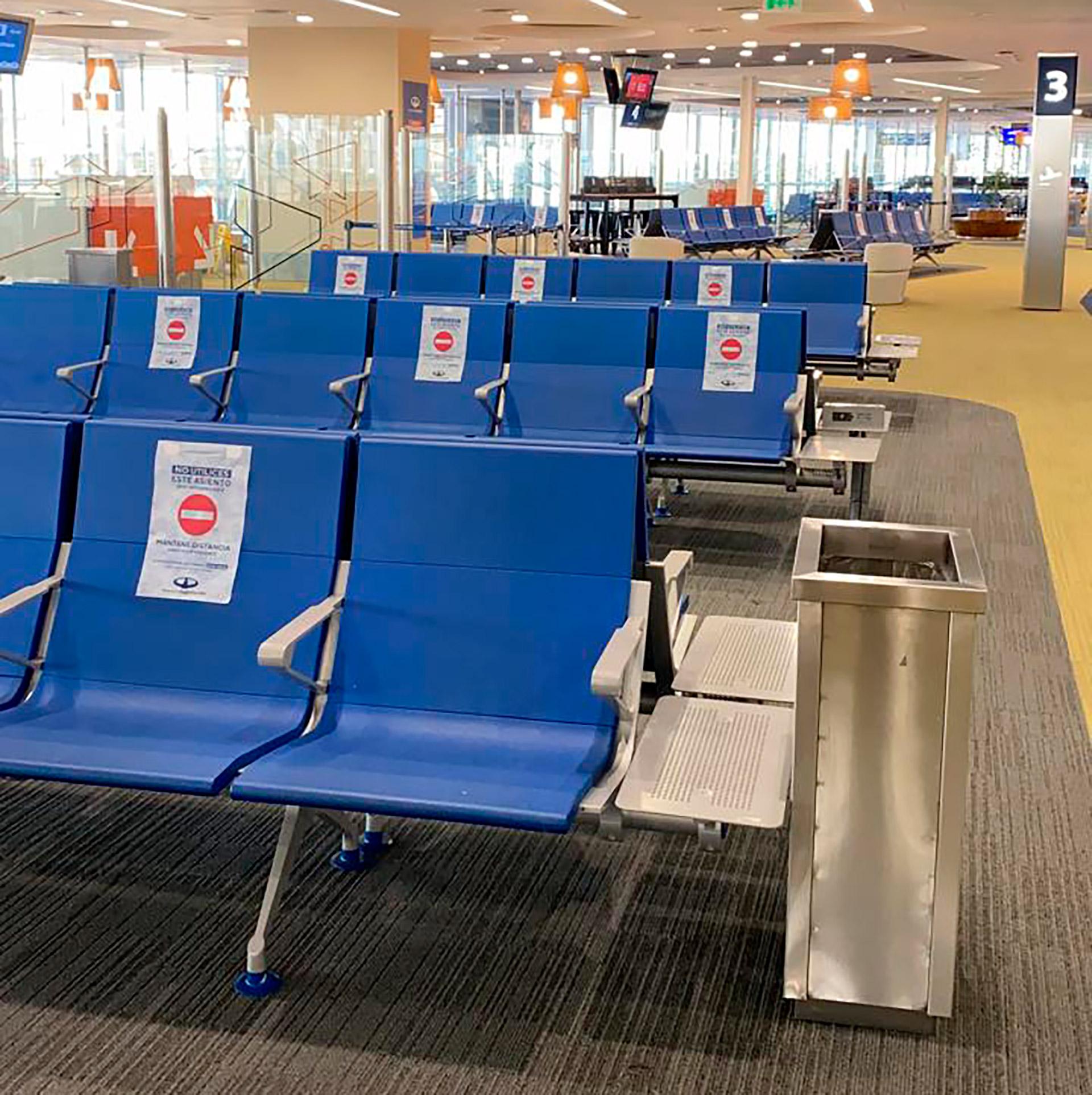 Se podrá usar sólo una parte de los asientos del sector de preembarque