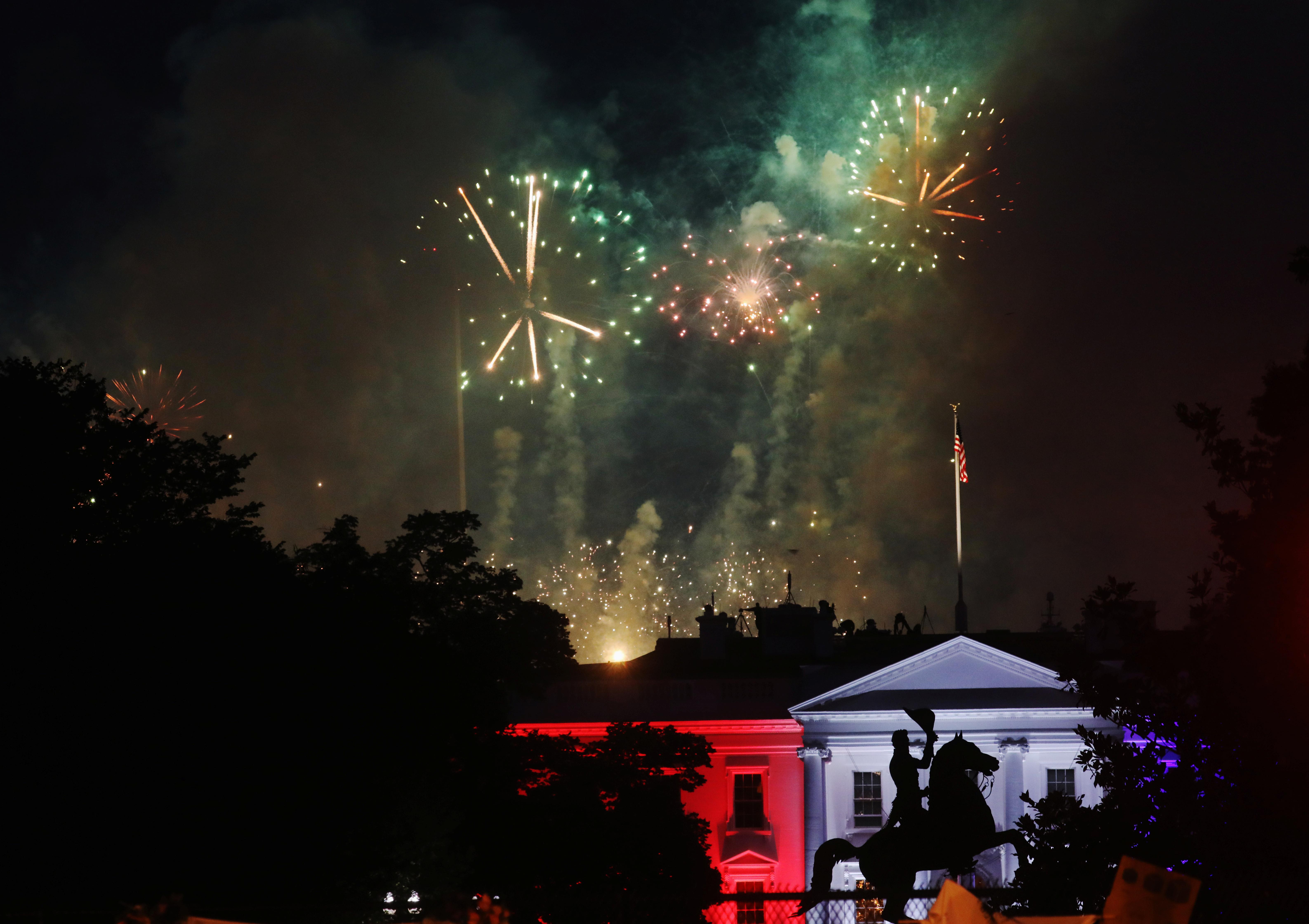 Fuegos artificiales en La Casa Blanca