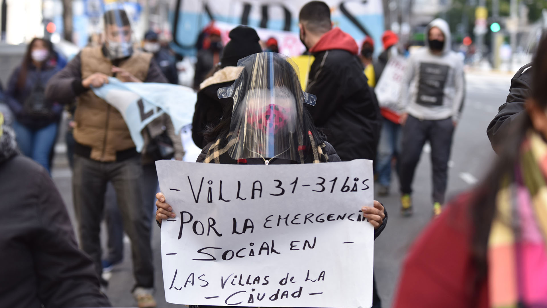 Los manifestantes pidieron mayores condiciones de hábitat en los barrios más pobres de la Capital Federal