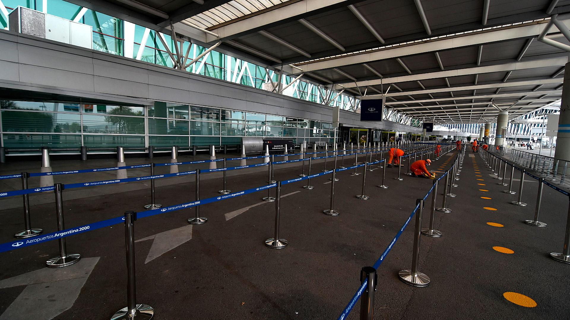 Los trabajos en la terminal de Ezeiza
