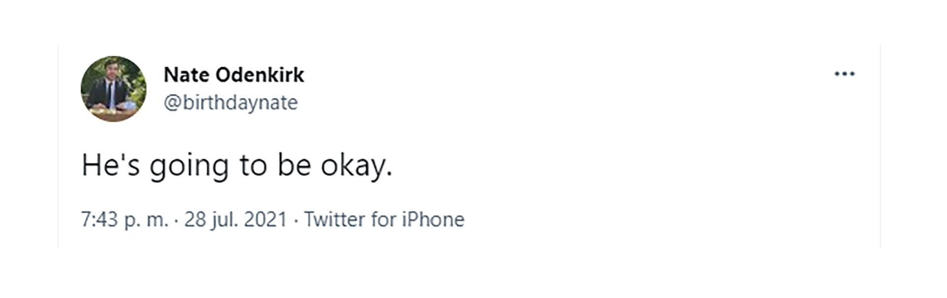 El tuit del hijo de Bob Odenkirk que calmó a los fanáticos del actor preocupados por su salud