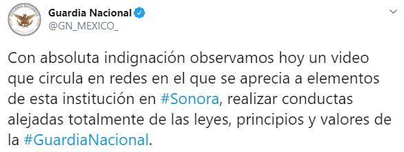 La Guardia Nacional aseguró que los presuntos responsables serán puestos a disposición de las autoridades competentes para que se les aplique el peso de la ley (Foto: Twitter/GN_MEXICO_)