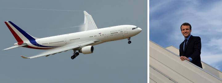 El gobierno francés de Emmanuel Macron utiliza un Airbus A330-200