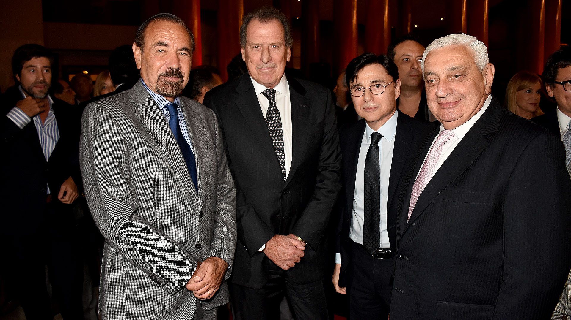 Jorge Pérez, presidente y CEO de The Related Group; Jorge Fontevecchia, CEO de Perfil; Jorge Brito, presidente del Banco Macro; y Adelmo Gabbi, titular de la Bolsa de Comercio (Nicolás Stulberg)