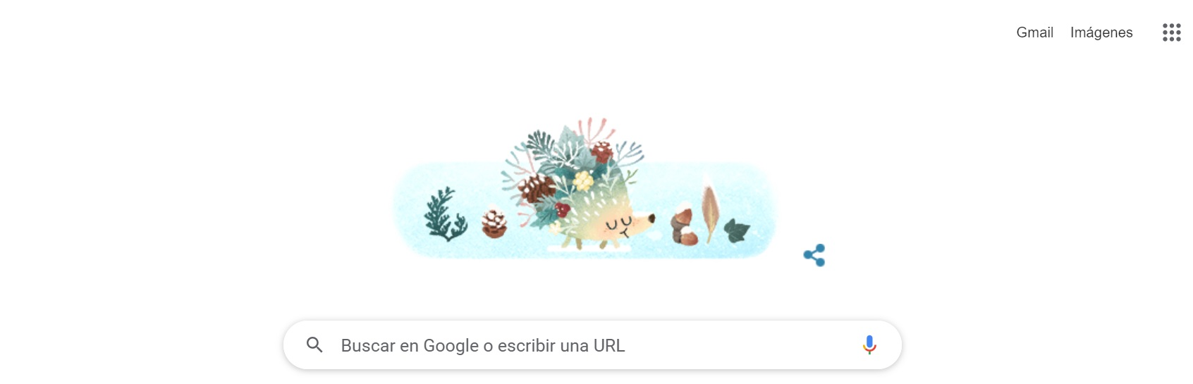 Así es el doodle con el cual Google recuerda el inicio del invierno en el hemisferio sur