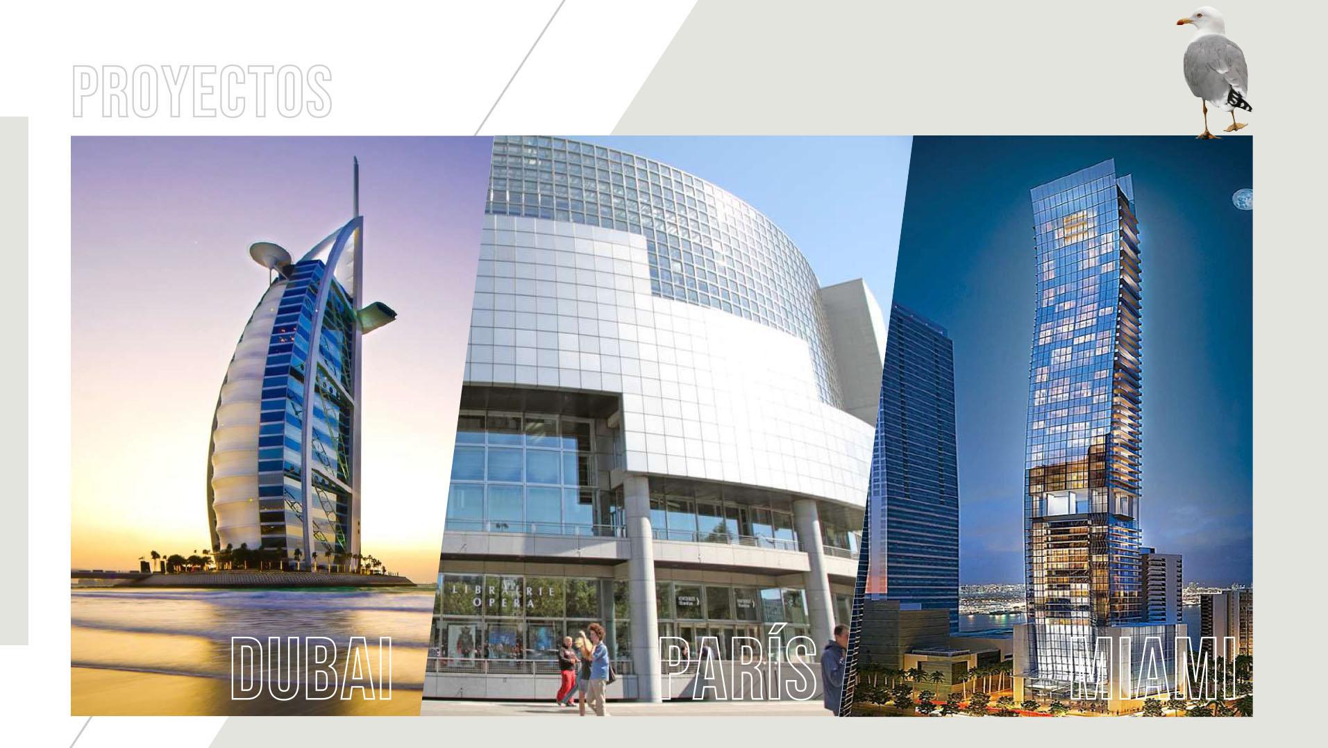 Dubái, París y Miami son algunos de los destinos en los que el arquitecto Carlos Ott diseñó emprendimientos inmobiliarios. Es autor de numerosos y destacados proyectos arquitectónicos en varios países del mundo. Se hizo famoso por ganar, entre más de setecientos proyectos, el concurso internacional para construir el edificio de la Ópera de la Bastilla de París