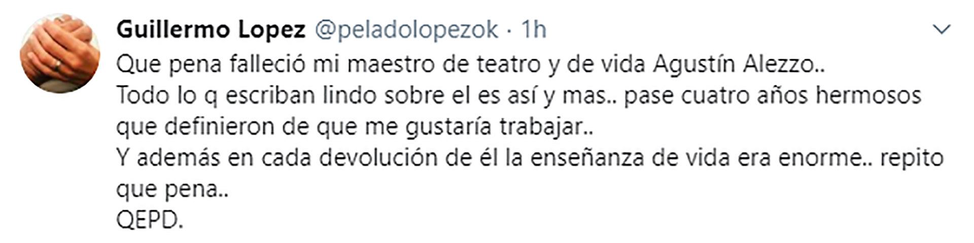 La despedida de Guillermo López
