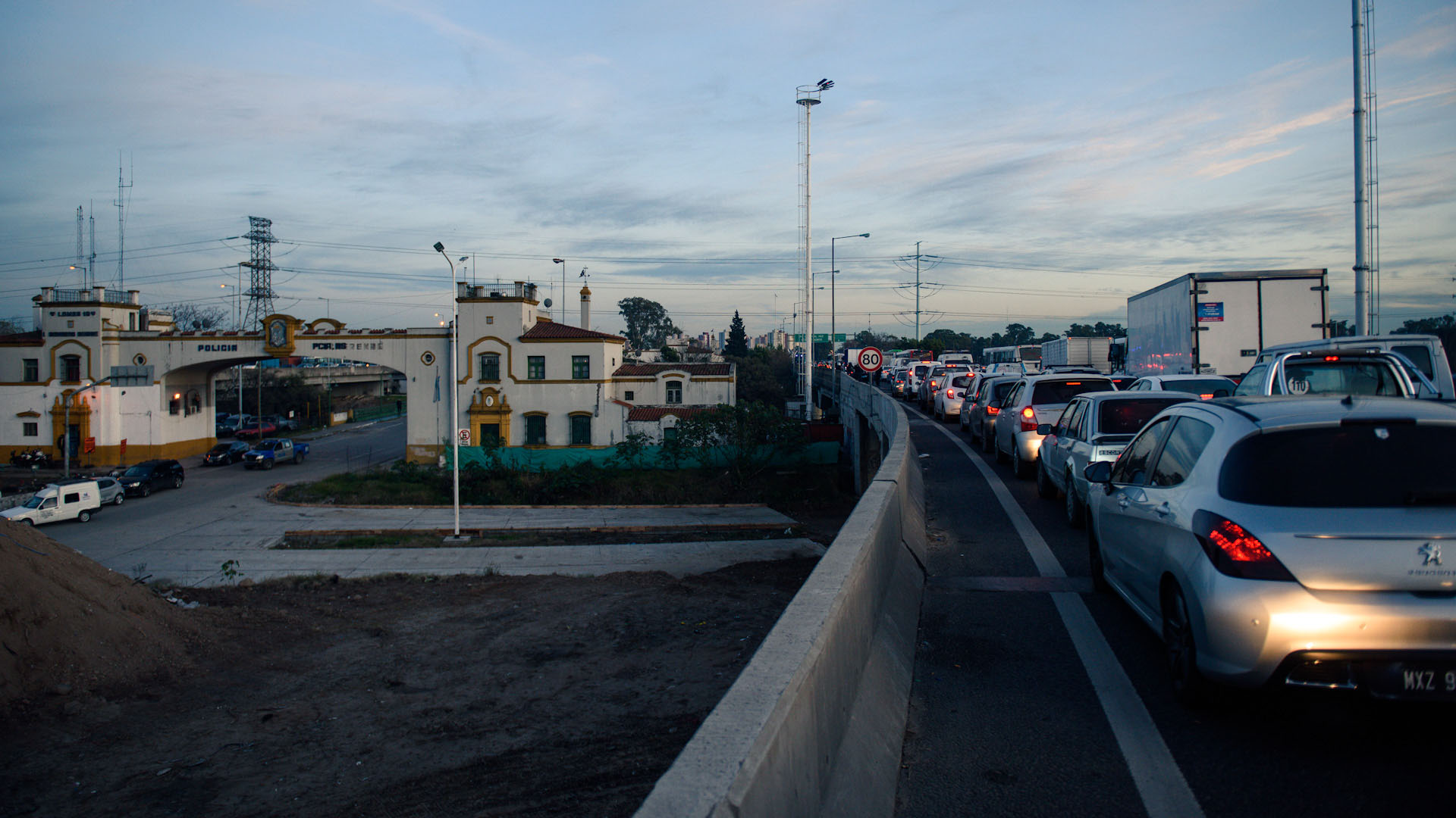 Controles de tránsito en Puente La Noria