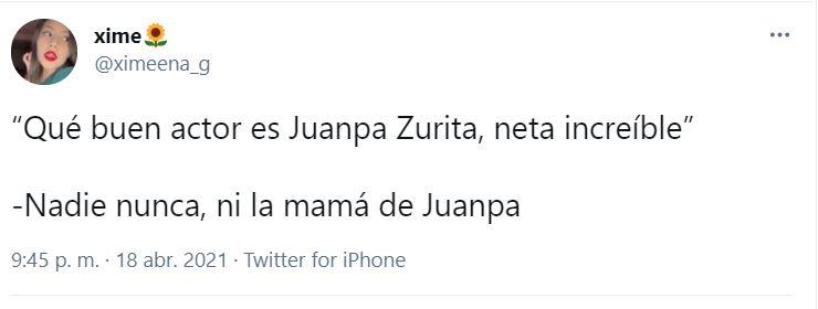Muchos otros han expresado el desagrado que les genera ver a Zurita en escena (Captura: Twitter)