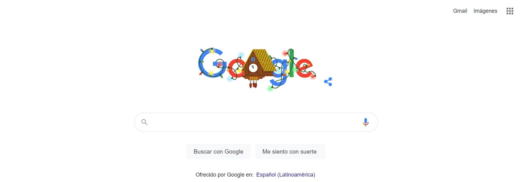 Así es el doodle de Google por Fin de año