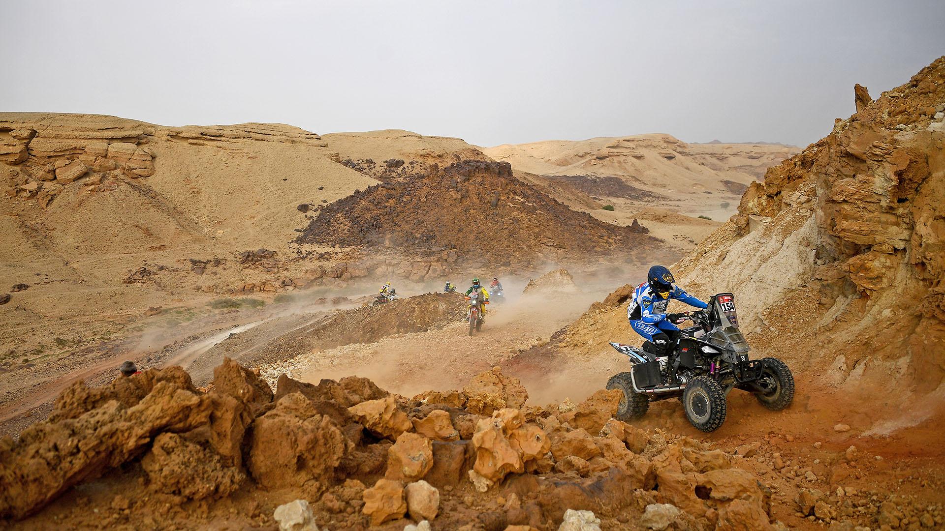 En su cuarta participación, Manuel Andújar fue campeón del Dakar (Photo by FRANCK FIFE / AFP)