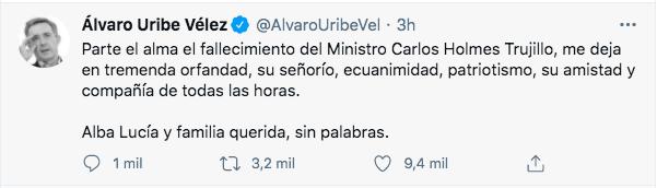 Trino de Álvaro Uribe Vélez.