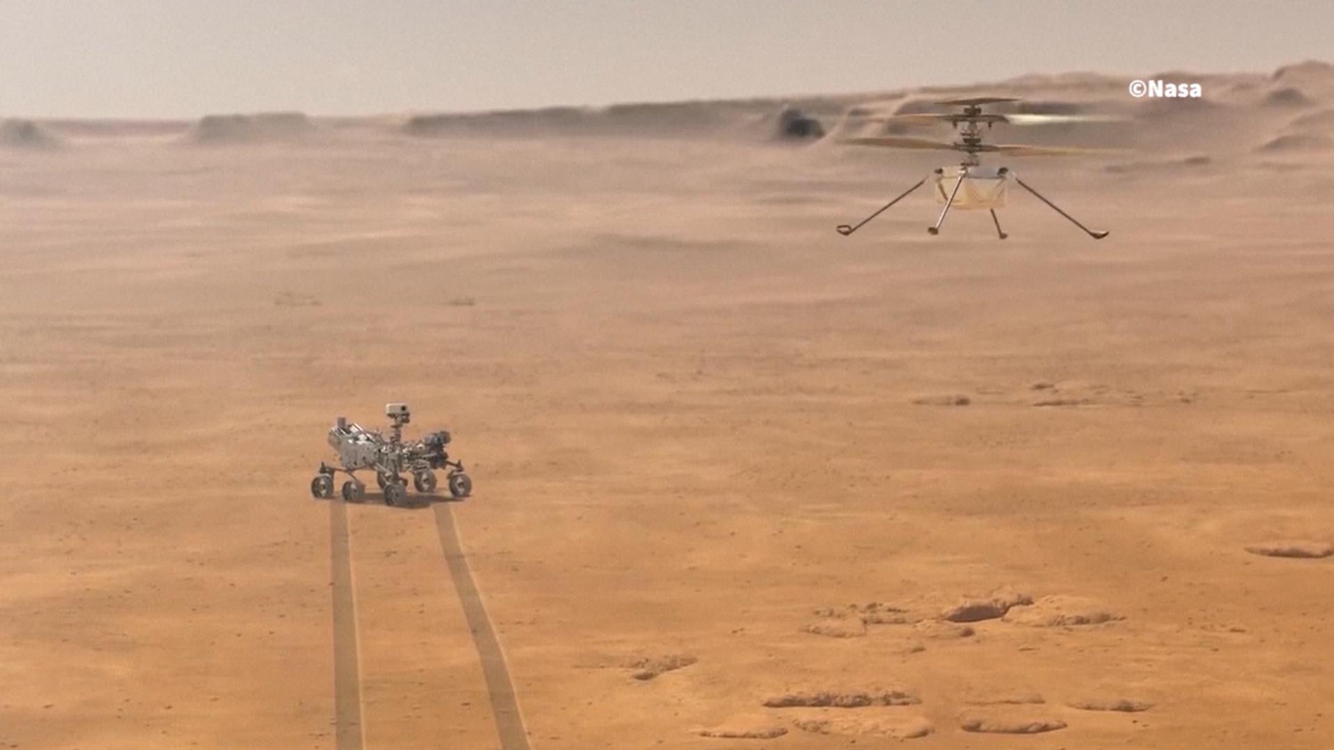 El robot Ingenio volará sobre Marte en 5 ocasiones (NASA)