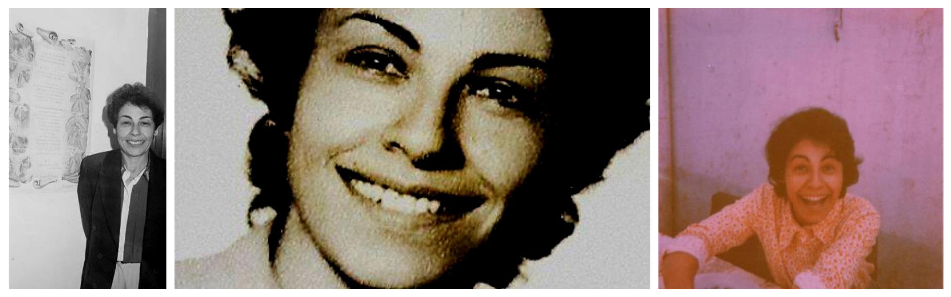 Tres fotos de Azucena en su juventud