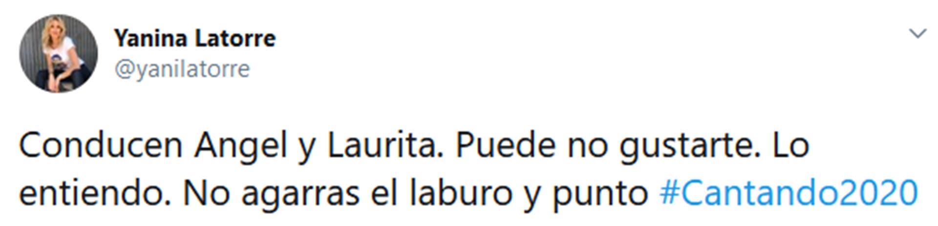 Los mensajes de Yanina Latorre, en apoyo a Laurita Fernández